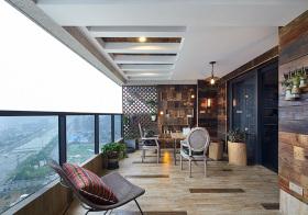 开阔现代风格阳台装修设计