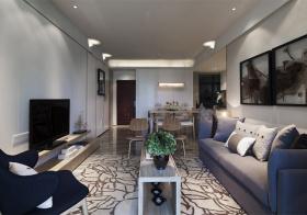 韵味现代风格客厅装修设计