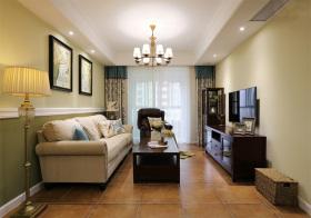 美式田园风格客厅装修设计