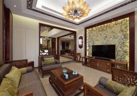 韵味新中式风格客厅装修设计