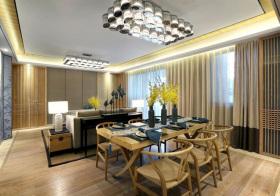 清新新中式风格餐厅装修设计