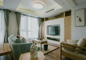 简约新中式风格客厅装修效果图