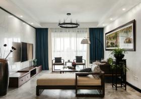 简约新中式风格客厅装修效果