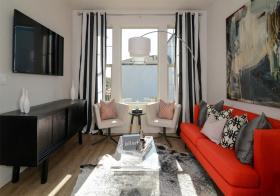 艺术简约风格客厅装修设计