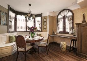 复古美式风格餐厅装修设计