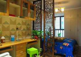 宁静中式儿童房设计