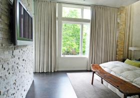 现代卧室窗帘美图设计
