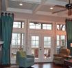 现代客厅长窗帘设计美图