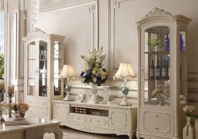 白色欧式酒柜设计