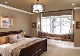 自然清爽卧室飘窗美图
