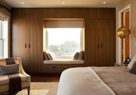 清新木质飘窗装修设计
