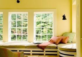 现代纯色系飘窗设计