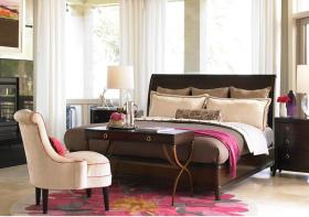 卧室素白窗帘美图