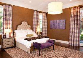卧室布格窗帘美图