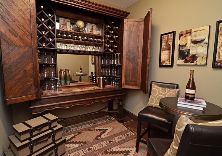复古木质酒柜装修美图