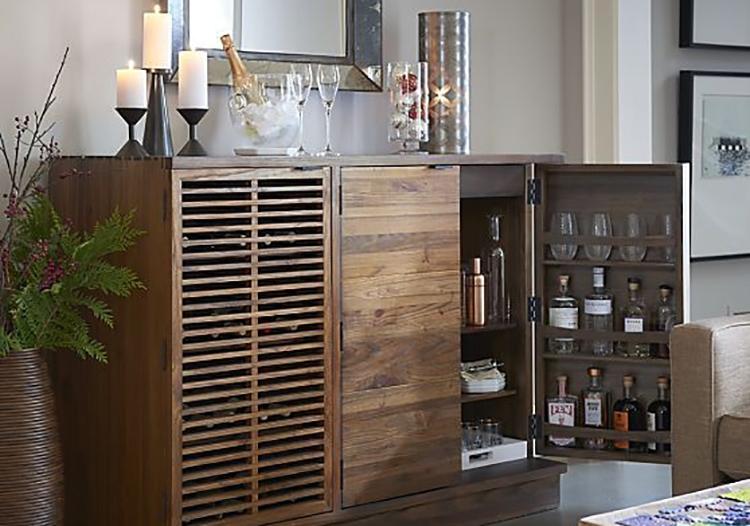 现代原木酒柜设计