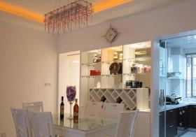 现代白色菱形酒柜设计