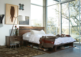 卧室透明飘窗装修设计