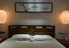简约中式卧室背景墙