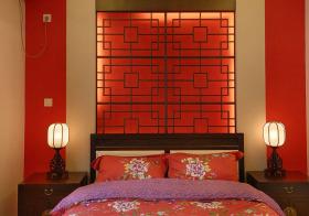 中国风古典卧室背景墙欣赏