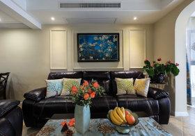 优雅新古典沙发背景墙欣赏