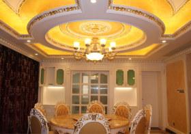 奢华欧式餐厅吊顶欣赏