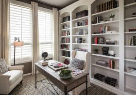 优雅美式风书房装修设计