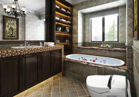 美式风浴室柜设计参考
