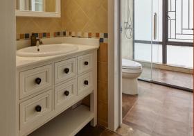 活泼美式风浴室柜设计