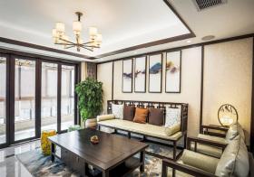 雅致新中式风格客厅装修图片