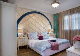 半圆形欧式卧室背景墙欣赏