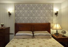 简约田园卧室背景墙欣赏