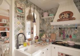 甜美田园风格厨房装修设计
