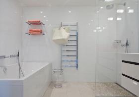 纯白简约风格卫生间装修设计