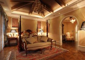华丽田园卧室吊顶设计