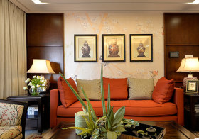 别致混搭沙发背景墙设计