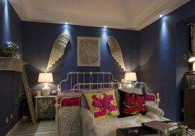 别致创意现代卧室背景墙设计