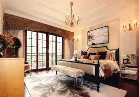 大气美式风格卧室装修设计