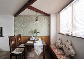 美式田园风格餐厅装修设计