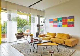 活力混搭风格客厅装修设计