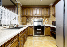 复古美式风格厨房装修设计