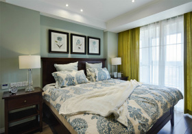清新美式风格卧室装修设计