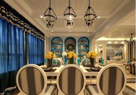 优雅地中海风格餐厅装修设计