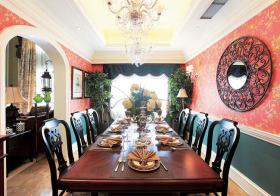 热情新中式风格餐厅装修设计
