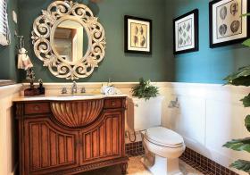 复古美式风格卫生间装修设计
