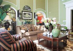 美式田园风格客厅装修效果