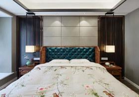 新中式卧室背景墙装修设计