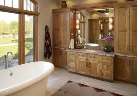 大户型美式风浴室柜设计