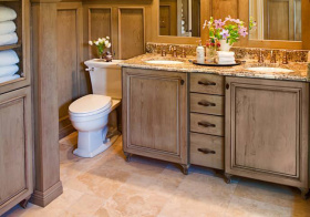复古美式风浴室柜装修