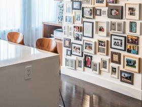 简单现代风照片墙设计